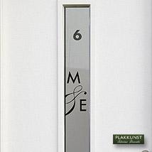 Raamfolie Modern Raamfolie initialen