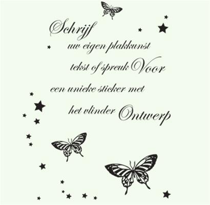 Eigen vlinder muursticker ontwerp