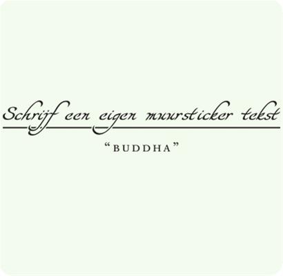 Schrijf je eigen Buddha muursticker tekst