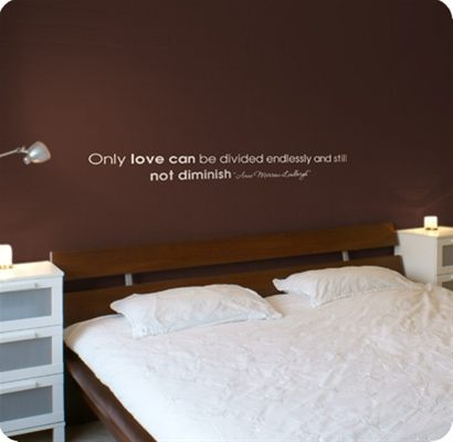 Muurstickers Slaapkamer muurstickers Love can be divided endlessly