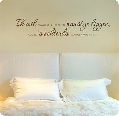 Muurstickers Slaapkamer muurstickers Ik wil naast je liggen