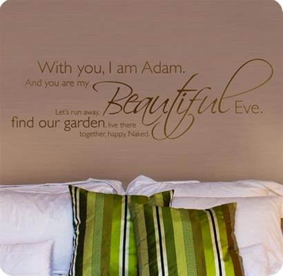 Muurstickers Slaapkamer muurstickers Adam and Eve
