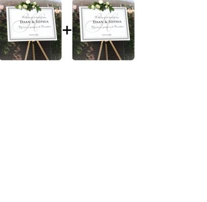 Bewegwijzeringborden bundel 2 stuks