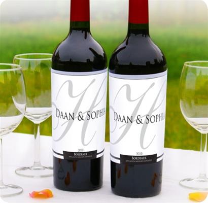 Trouwdecoratie Wijnfles etiketten Klassiek