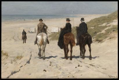 Poster & Gallery prints Morgenrit langs het strand, Poster