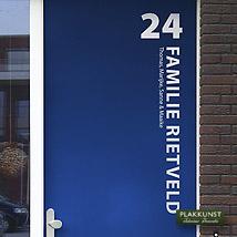 Modern Voordeursticker Rietveld