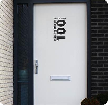 Voordeurstickers Voordeur modern