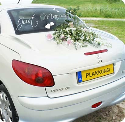 Klassiek Just Married trouwdecoratie