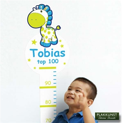 Muurstickers Groeimeter Tobias