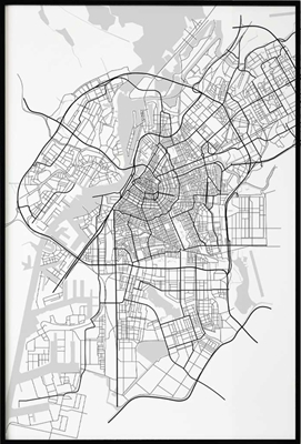 Amsterdam City Map, Poster