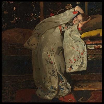 Poster & Gallery prints Meisje in witte kimono, Poster
