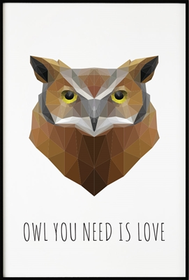 Poster & Gallery prints Owl Polygon, Poster