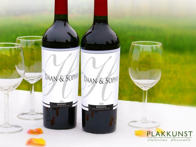 Wijnfles etiketten Klassiek
