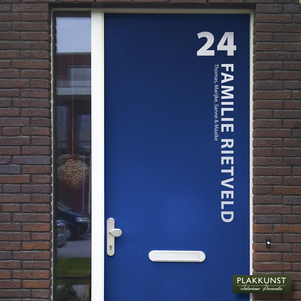 Voordeursticker Rietveld