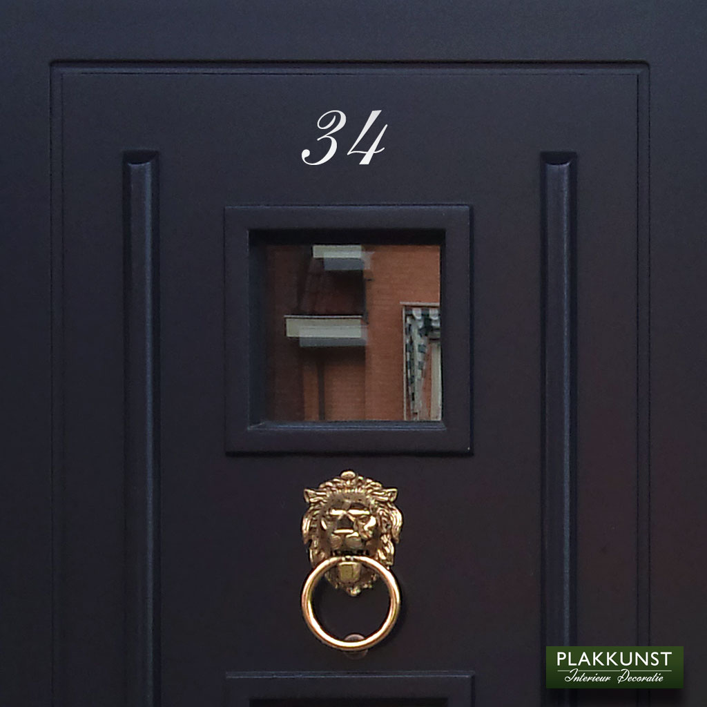 Voordeursticker Huisnummer Klassiek