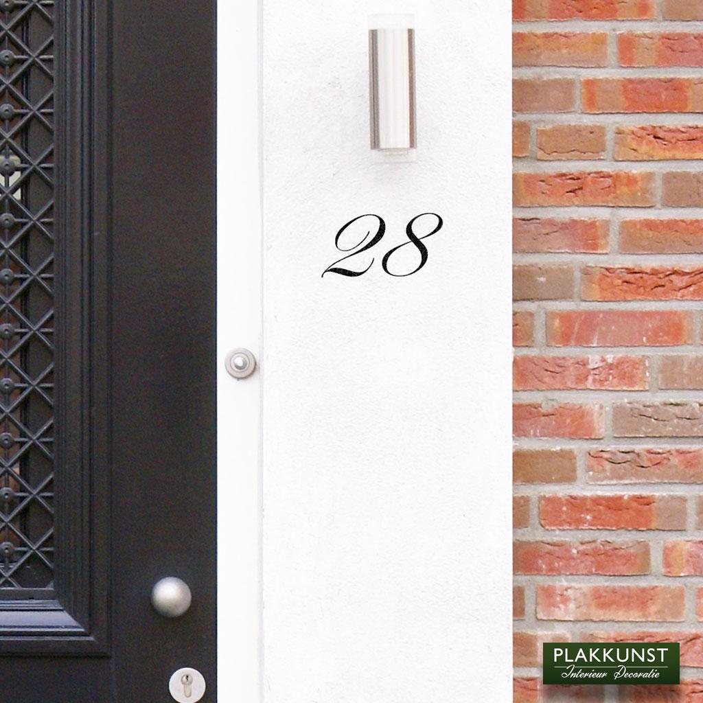 Voordeursticker Huisnummer Pittoresk