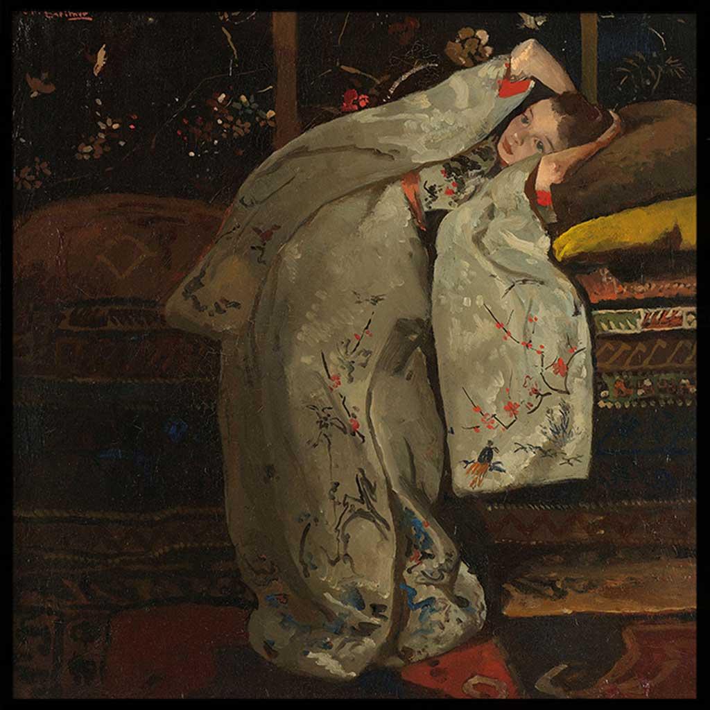 Meisje in witte kimono, Poster