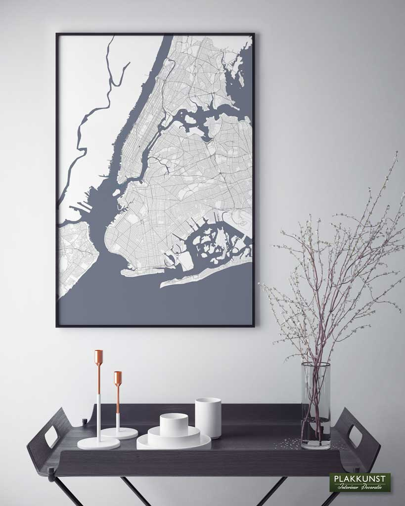 New York City Map, Poster