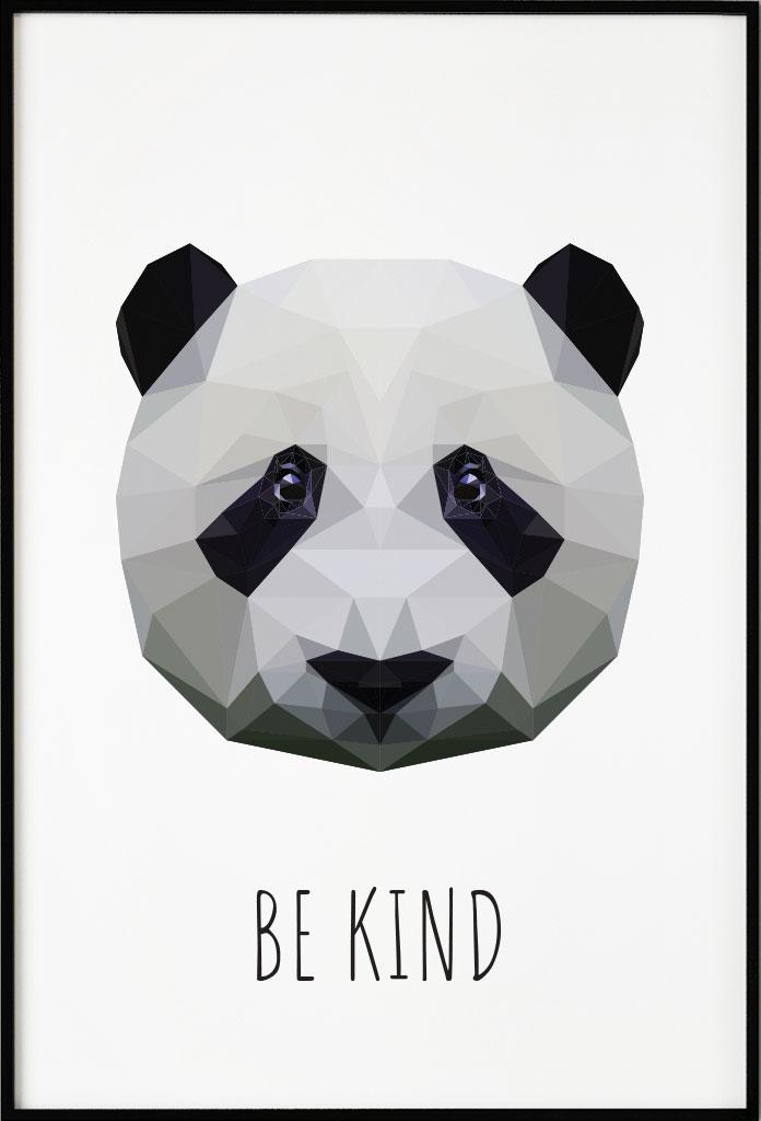Panda polygon, Poster