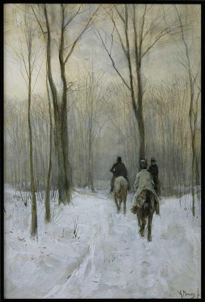 Ruiters in de sneeuw, Posters