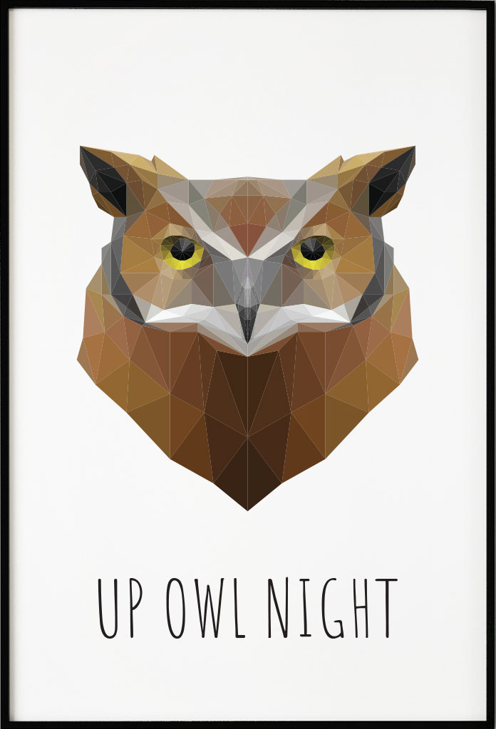 Owl Polygon, Poster