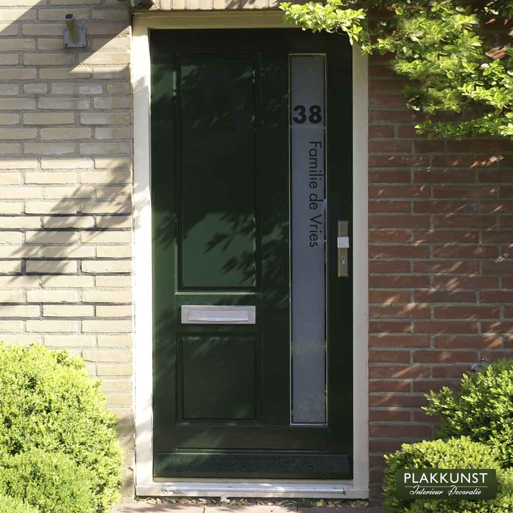Raamfolie huisnummer voordeurglas