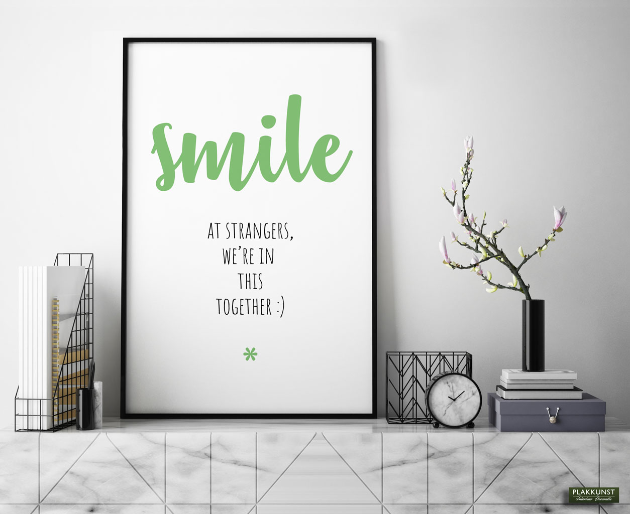 smile at strangers quote poster 2_1